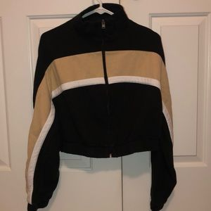 Hollister cropped zip up